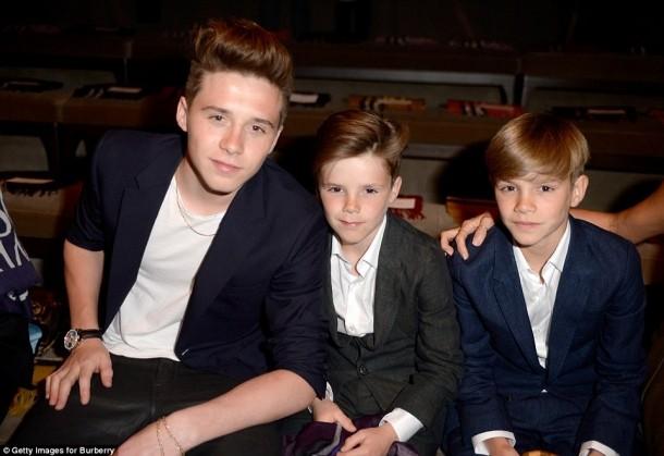 Fiii soţilor Beckham