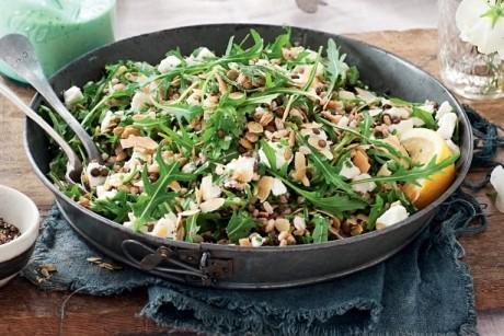 Salată de linte, orez şi avocado