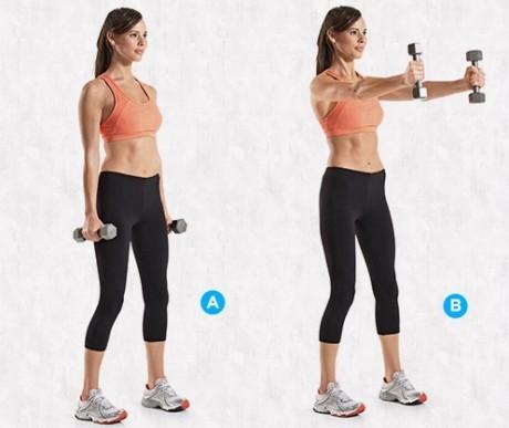 Exerciţiu pentru tonifierea braţelor, umerilor şi trunchiului