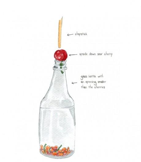 Cum să scoţi sâmburii din cireşe cu o STICLĂ
