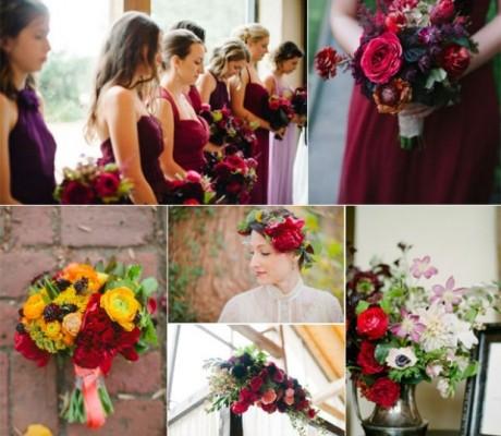 Nuntă în tendinţe: Se poartă roşu de Burgundia şi chihlimbar