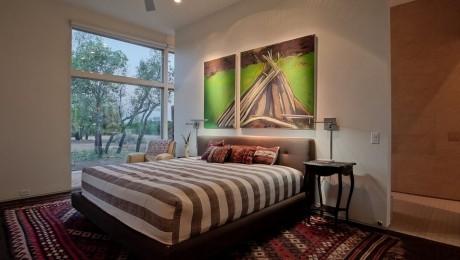 Cum să îi oferi personalitate dormitorului cu un singur tablou