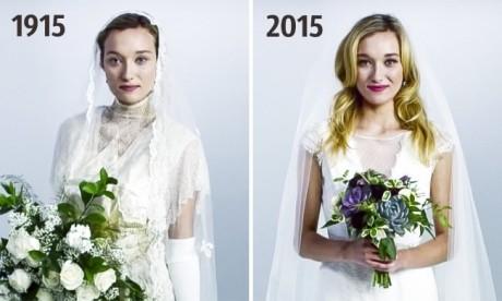 100 de ani de rochii de mireasă în 3 minute