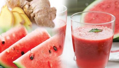 Detoxifică RINICHII și previne CANCERUL: Suc DELICIOS din pepene şi ghimbir
