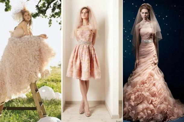 18 Modele De Rochii Roz şi Piersică Pentru Miresele Feminisro