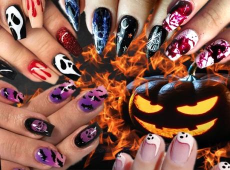 50 de modele de unghii de Halloween: Manichiură cu lilieci, dovleci, vrăjitoare şi nu numai!